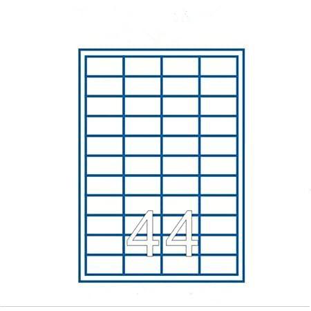 44 Etichette Adesive 47,5x25,5 Giallo Ciac