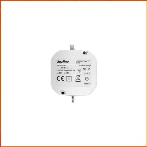 Alimentatore Stabilizzato 12V 1,66A IP67 Alcapower