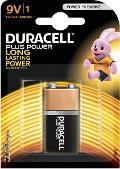 Batteria 9V Alkalina Duracell Plus Duracell MN1604