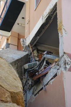 Messa in sicurezza e miglioramento sismico di un edificio danneggiato da una frana ad Agrigento