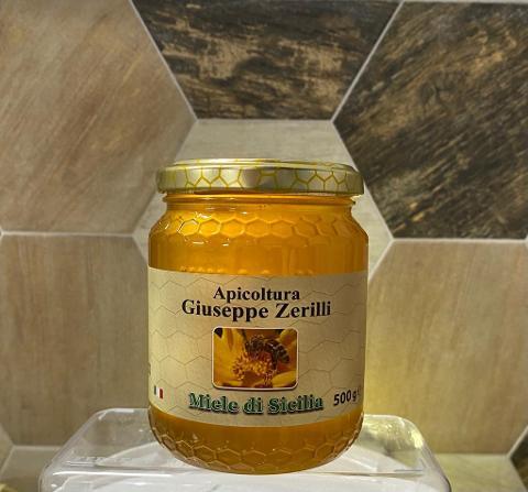 """MILLEFIORI PRIMAVERILE  500g -     Miele di Sicilia - """"Apicoltura Giuseppe Zerilli"""""""