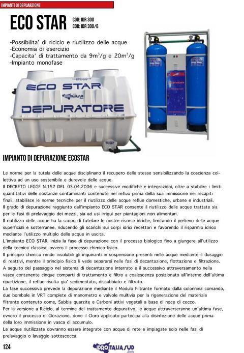 Depuratori x acque  reflue idroitalia sud s.r.l. iunior