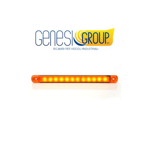 Fanale full led universale  was 12 led arancio
