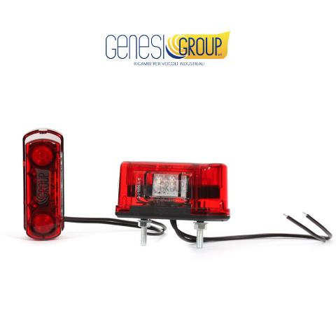 Luce targa full led was 12/24 volt