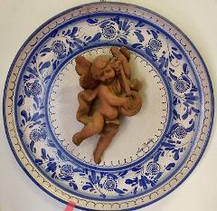 Piatto con Angelo  Laura Buzzetta  Ceramica