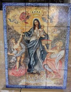 Pannello Madonna del Lume  Laura Buzzetta  Ceramica