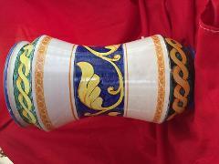 Albarello in ceramica alt. 28 cm con foglia d'acanto Laura Buzzetta ceramica arredo