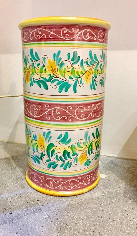 Portaombrelli retto Laura Buzzetta ceramica arredo