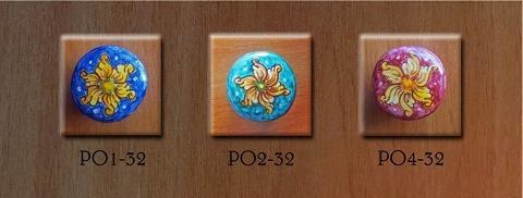 Pomello personalizzato- Fiore geometrico Laura Buzzetta - PomArt personalizzato