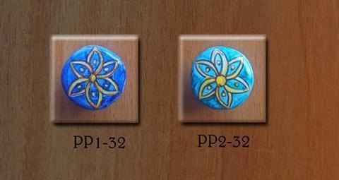 Pomello personalizzato- Fiore geometrico 2 Laura Buzzetta - PomArt personalizzato