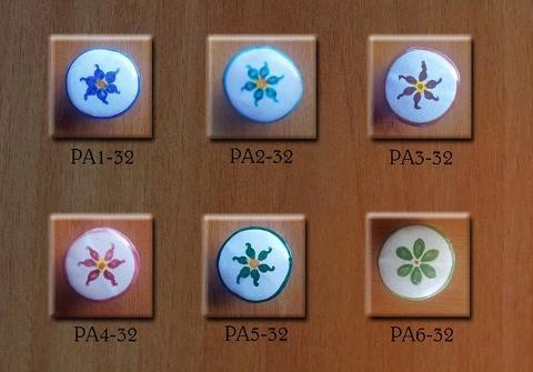 Pomello personalizzato- Fiore semplice Laura Buzzetta - PomArt personalizzato