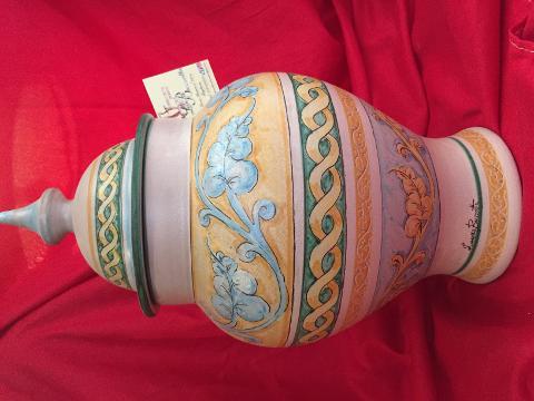 Apotiche vaso elegante altezza 36 cm Laura Buzzetta ceramica arredo