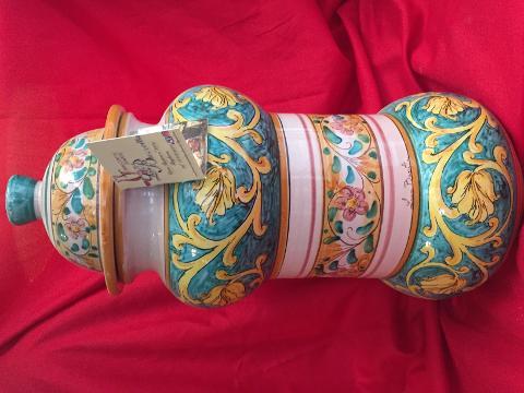 Vaso da farmacia elegante altezza 38 cm Laura Buzzetta ceramica arredo