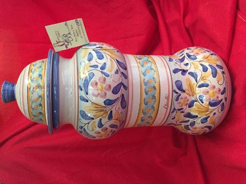 Copia di Vaso da farmacia altezza 38 cm Laura Buzzetta ceramica arredo