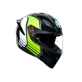 K1 MULTI ECE2205 AGV POWER GUNMETAL/WHITE/GREEN