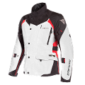 X-TOURER - GIACCA MOTO TRIPLO STRATO TOURING 4 SEASONS IN D-DRY Dainese Light-Gray/Black/Tour-Red