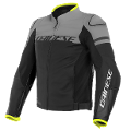AGILE - GIUBBOTTO MOTO SPORT IN PELLE  Dainese  Blackblack-Matt/Charcoal-Gray/Black-Matt
