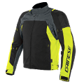 SPEED MASTER - GIUBBOTTO MOTO SPORT IN D-DRY Dainese EBONY/FLUO-YELLOW/BLACK