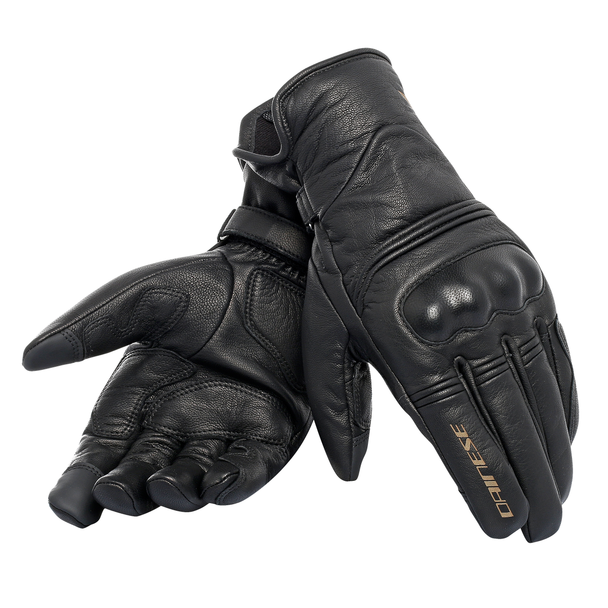 GUANTO MOTO IMPERMEABILE PELLE BLACK  /WATERPROOF FULL LEATHER GLOVES  Dainese CORBIN D-DRY GLOVES