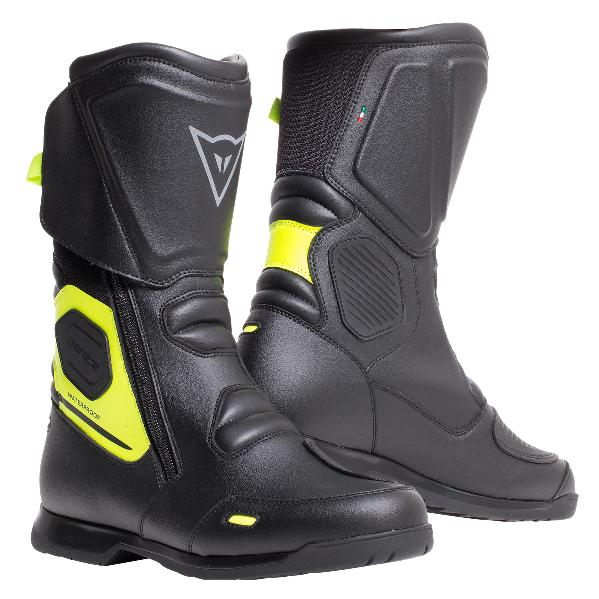 STIVALI MOTO SPORT TOURING IMPERMEABILI IN D-WP Dainese X-TOURER BLACK/YELLOW