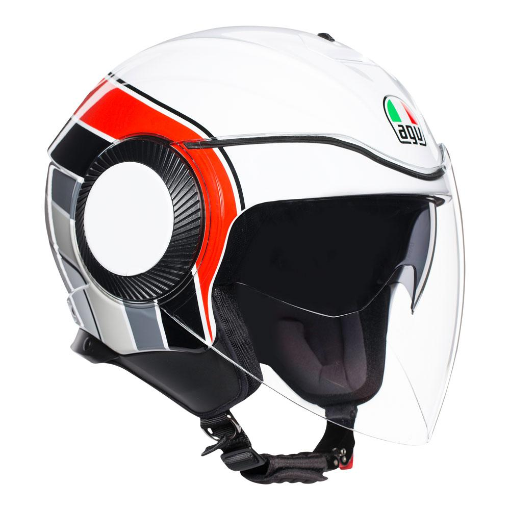 ORBYT AGV E2205 MULTI AGV BRERA WHITE/GREY/RED