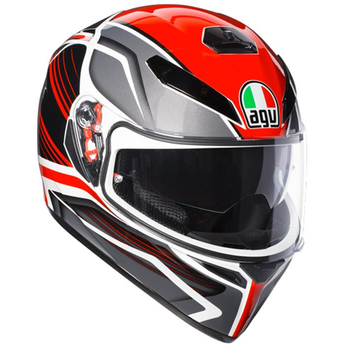 K-3 SV E2205 MULTI  AGV  PROTON WHITE/ RED