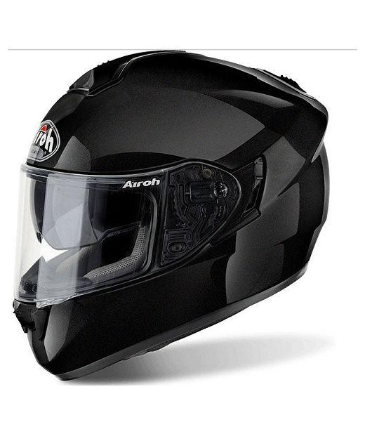 ST701 BLACK GLOSS ON-ROAD HELMET AIROH Casco ON-ROAD in fibre composite