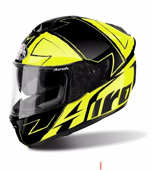 ST701 WAY YELLOW GLOSS ON-ROAD HELMET AIROH Casco ON-ROAD in fibre composite