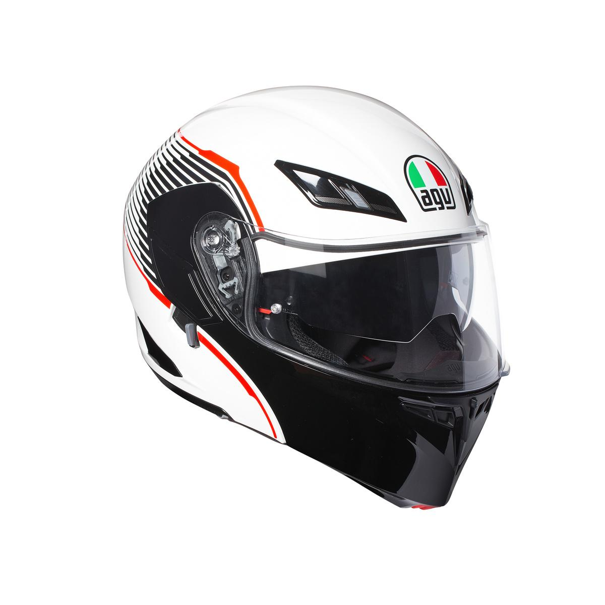 COMPACT ST E2205 MULTI -  AGV VERMONT WHITE/BLACK/RED