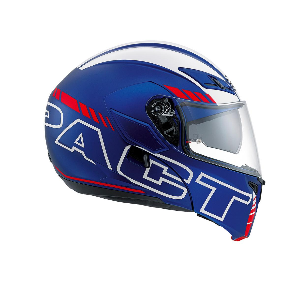 COMPACT ST E2205 MULTI  AGV  SEATTLE MATT BLUE/WHITE/RED