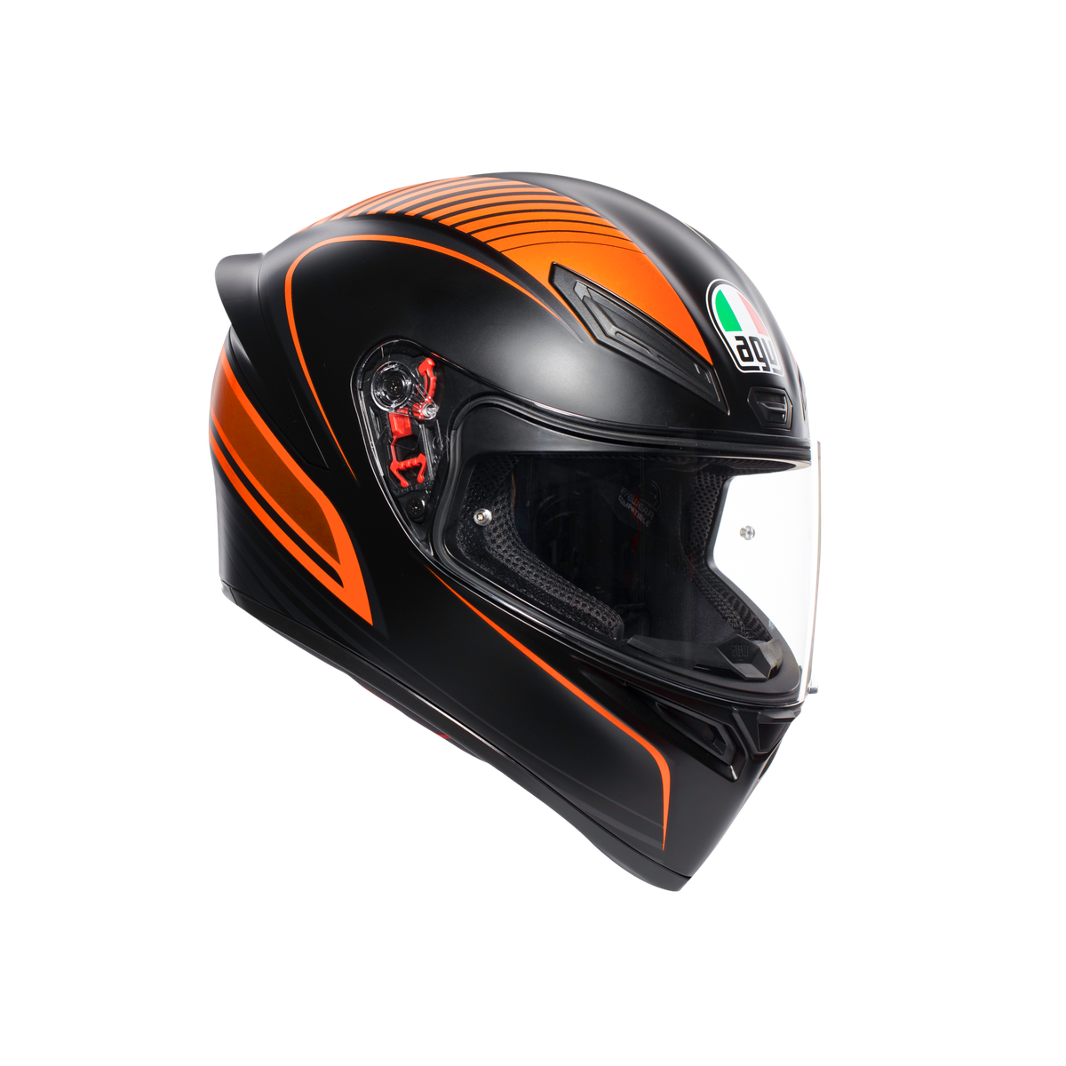 K1 MULTI ECE2205 AGV WARMUP MATT BLACK/ORANGE