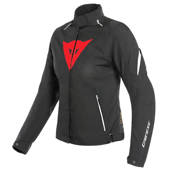 LAGUNA SECA 3 LADY D-DRY® JACKET Dainese  BLACK/LAVA-RED/WHITE