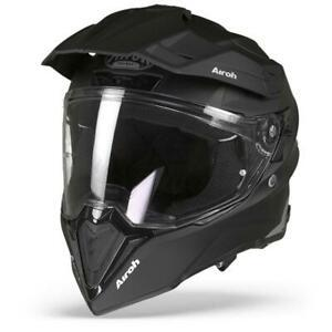 COMMANDER CASCO HELMET ON-OFF SPORT-TOURING-ADVENTURE AIROH MATT BLACK
