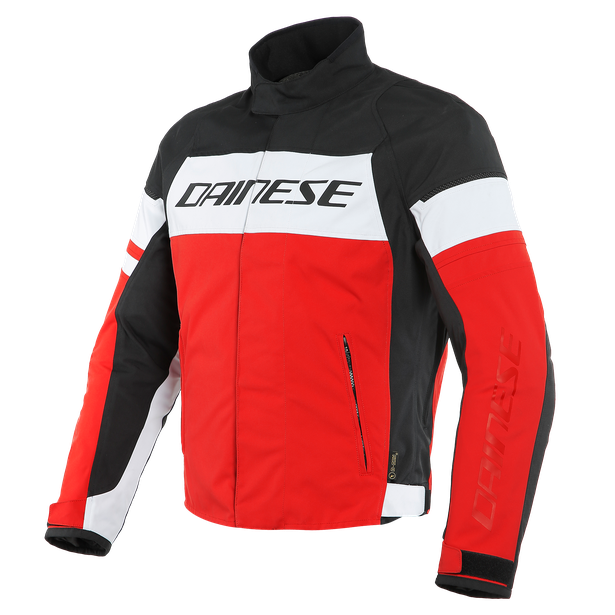 GIUBBOTTO MOTO SPORT URBAN MIDDLE SEASON IN D-DRY Dainese SAETTA WHITE/LAVA-RED/BLACK