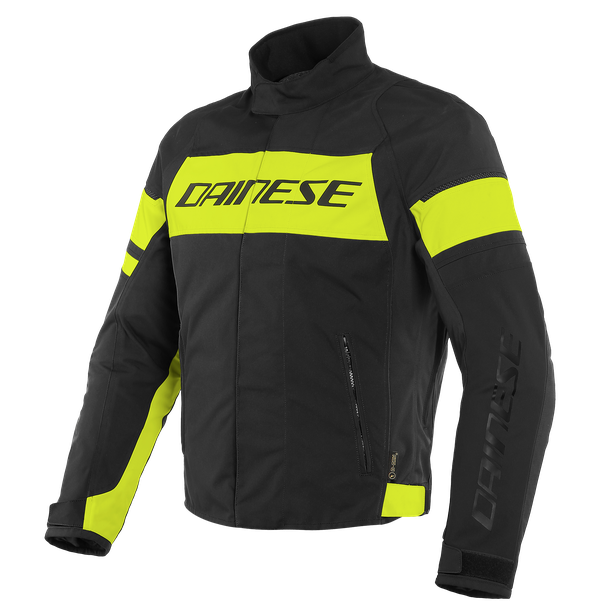 GIUBBOTTO MOTO SPORT URBAN MIDDLE SEASON IN D-DRY Dainese SAETTA BLACK/FLUO-YELLOW/BLACK