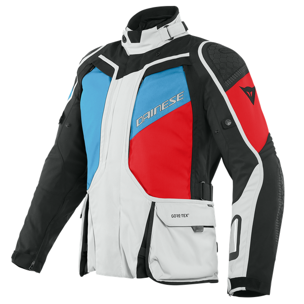 GIACCA MOTO ADVENTURE SPORT TOURING FOUR SEASON IN GORE-TEX Dainese D-EXPLORER 2 GLACIER-GRAY/BLUE/LAVA-RED/BLACK