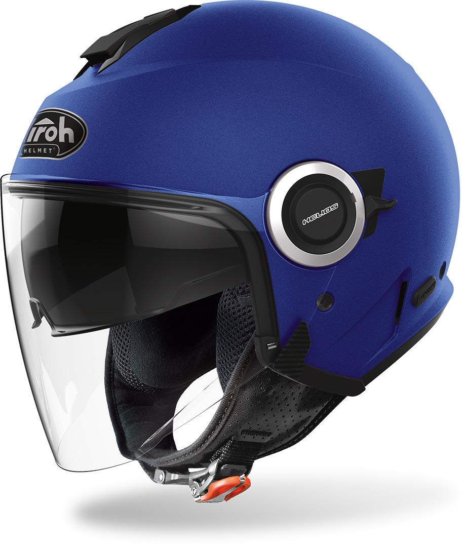 HELIOS COLOR BLU MATT  AIROH CASCO JET IN TERMOPLASTICA
