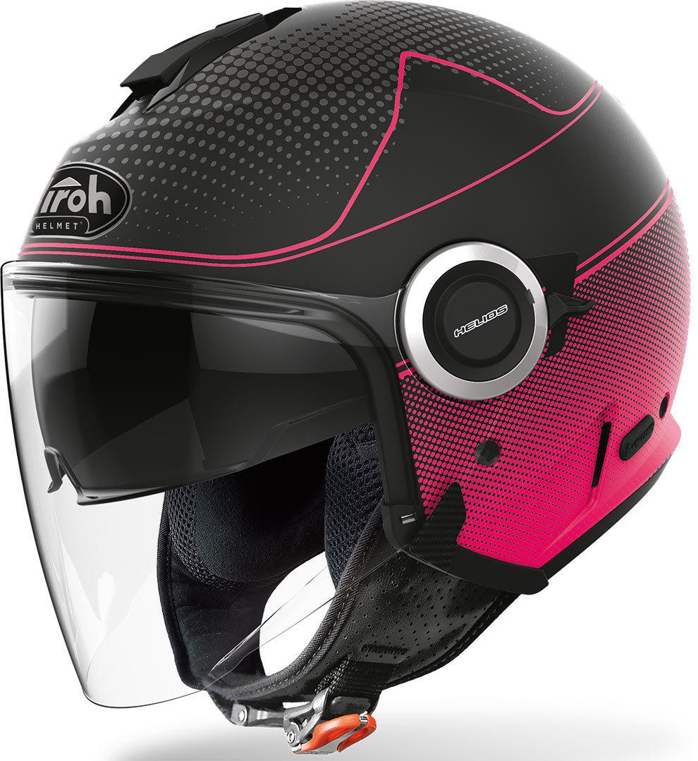 HELIOS PINK MATT  MAP  AIROH CASCO JET IN TERMOPLASTICA