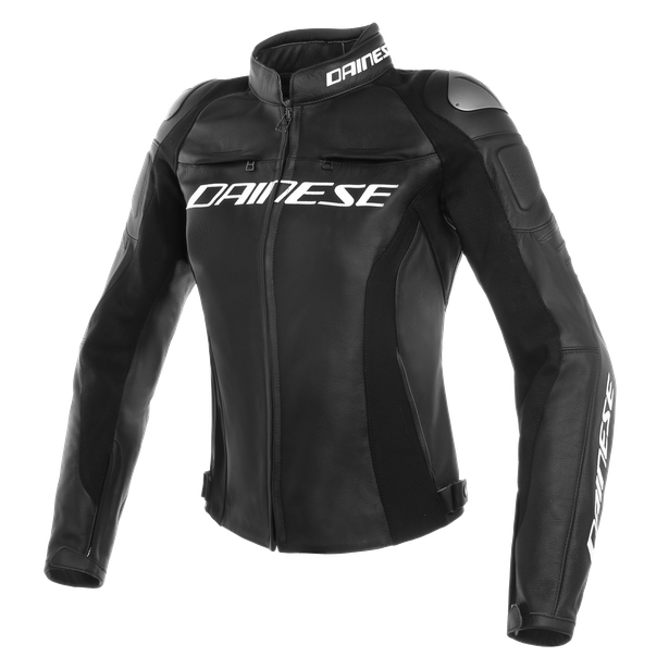 RACING 3 LADY LEATHER JACKET Dainese Black/Black/Black