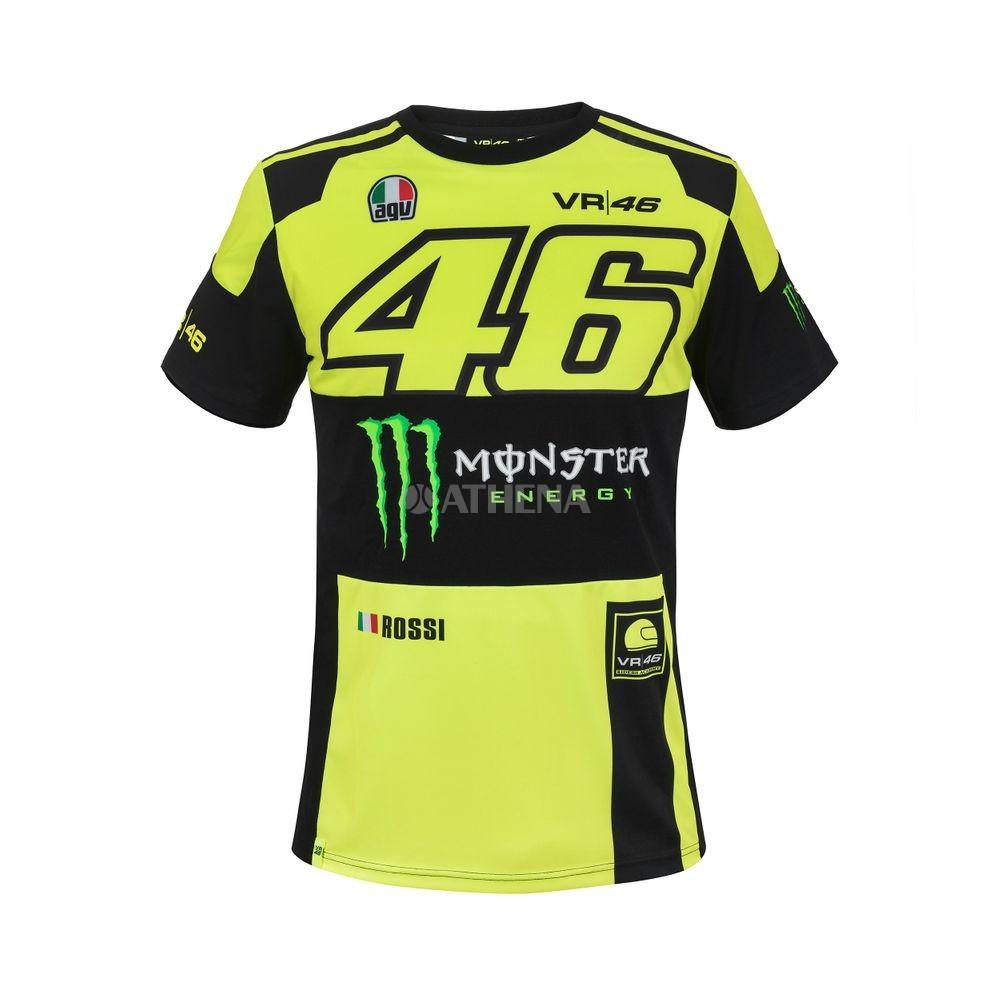 T-SHIRT UOMO REPLICA MONSTER VR|46 2018 VR46 T-SHIRT VALENTINO ROSSI