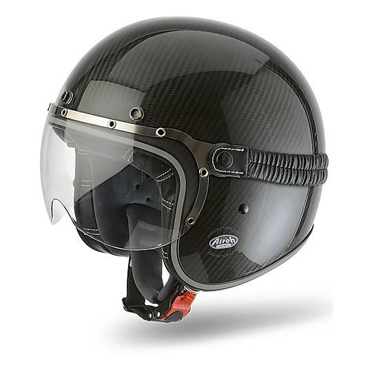GARAGE JET  AIROH CASCO VINTAGE IN FIBRE COMPOSITE