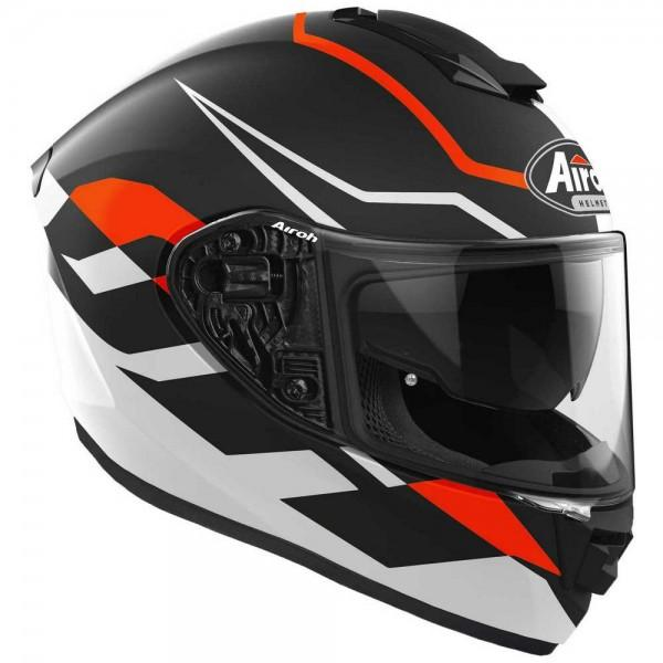 ST 501 - FROST ORANGE  AIROH CASCO FULL FACE TRI-COMPOSITE