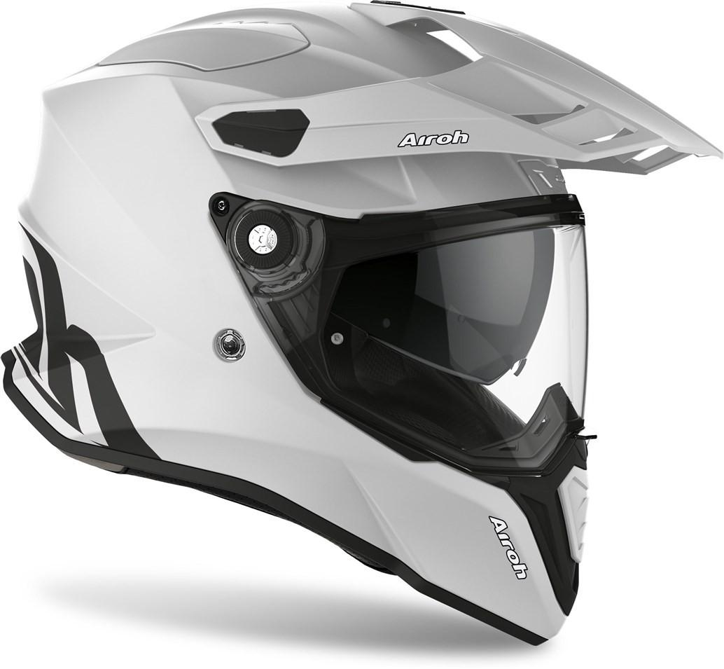 COMMANDER CASCO HELMET ON-OFF SPORT-TOURING-ADVENTURE AIROH CONCRETE GRAY