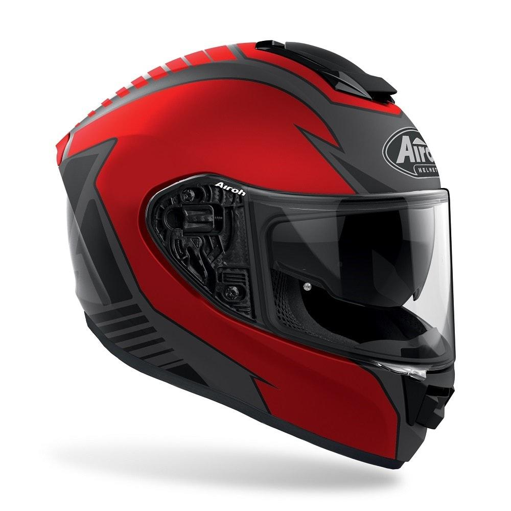 ST 501 - TYPE RED  AIROH CASCO FULL FACE TRI-COMPOSITE