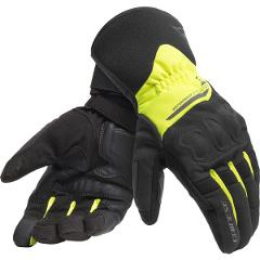 X-TOURER GLOVES - GUANTO MOTO IMPERMEABILE / WATERPROOF  GLOVES HIGH VISIBILYTY Dainese BLACK/FLUO-YELLOW
