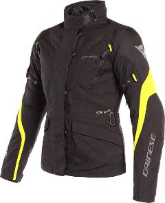 TEMPEST 2 - GIACCA MOTO LADY TOURING URBAN IN CORDURA D-DRY Dainese Black/Black/Fluo-Yellow