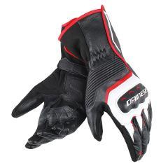 ASSEN GLOVES Black/White/Red-Lava TG XL Dainese  Sport/ Sport-touring pelle