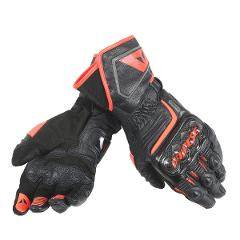 GUANTO RACING STRADALE PELLE CARBONIO Dainese  CARBON D1 LONG BLACK/FLUO-RED