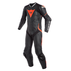 LAGUNA SECA 4 1PC PERF. LEATHER SUIT  Dainese  black/black/red-fluo
