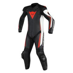 ASSEN 1 PC. PERF. SUIT TUTE IN PELLE Dainese  black/white/fluo-red